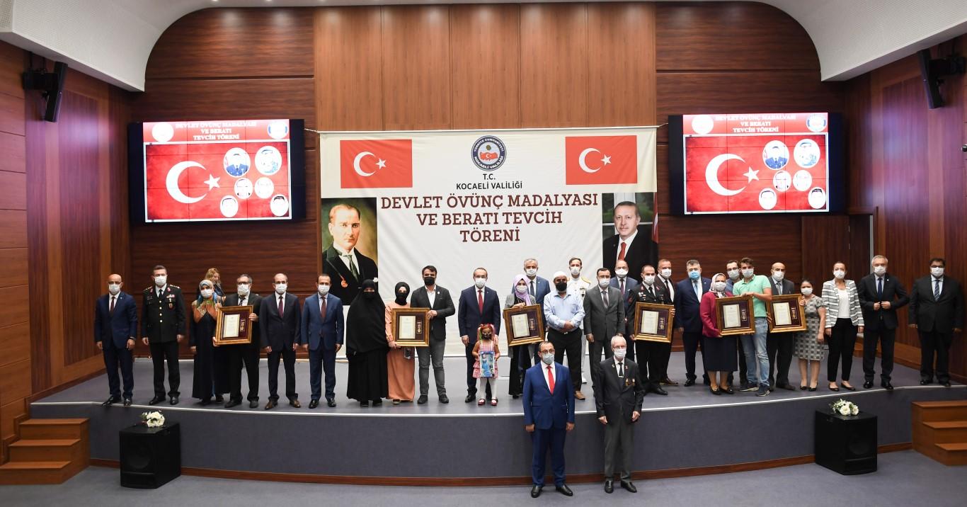Devlet Övünç Madalya ve Beratı Tevcih Töreni Gerçekleştirildi