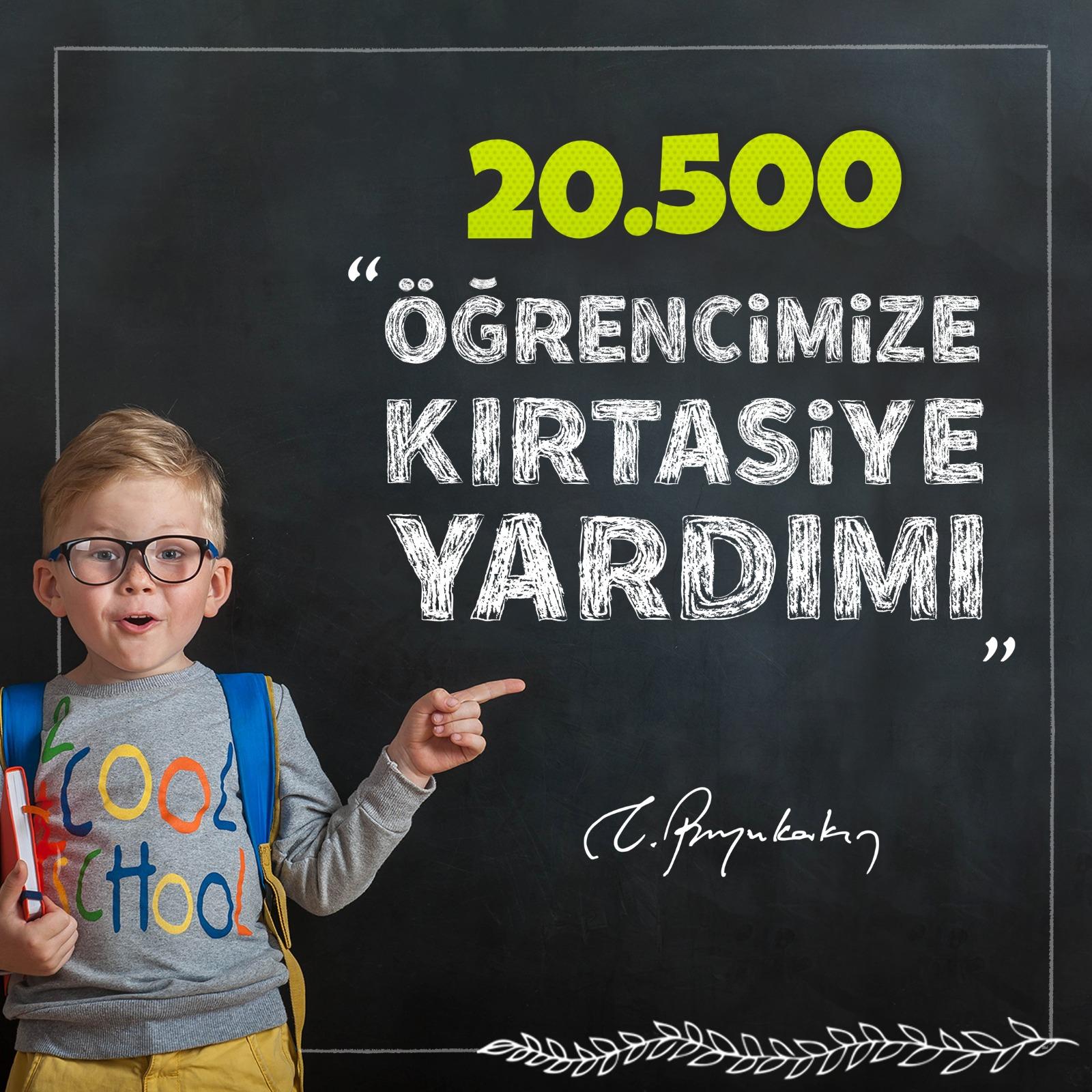 Büyükşehir'den, 20 bin 522 öğrenciye 3 milyonluk kırtasiye yardımı