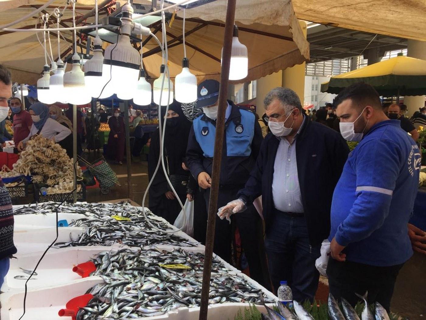 Gebze'de balıkçılar denetlendi