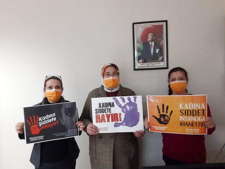 Üç Kadın Muhtar, Kadına Şiddete Karşı Birleşti!
