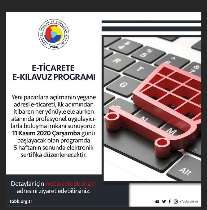 """GTO açıkladı: """"E-Ticarete E-Kılavuz"""" programı 11 Kasım'da başlıyor"""