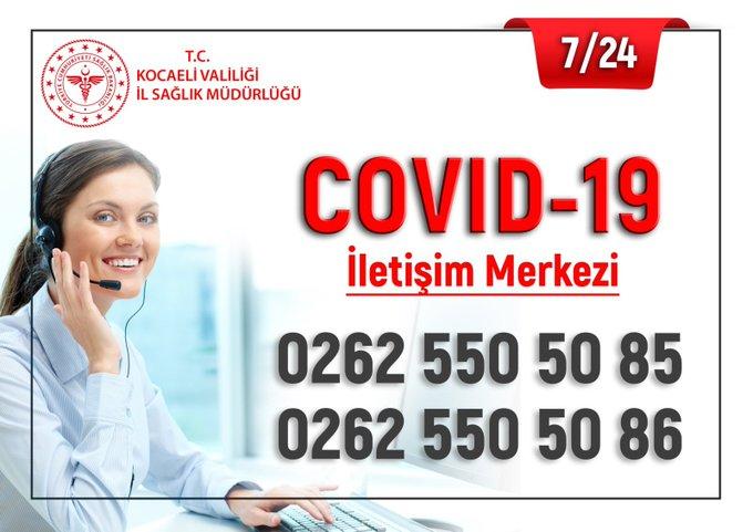 KOCAELİ'DE COVID-19 İLETİŞİM MERKEZİ KURULDU