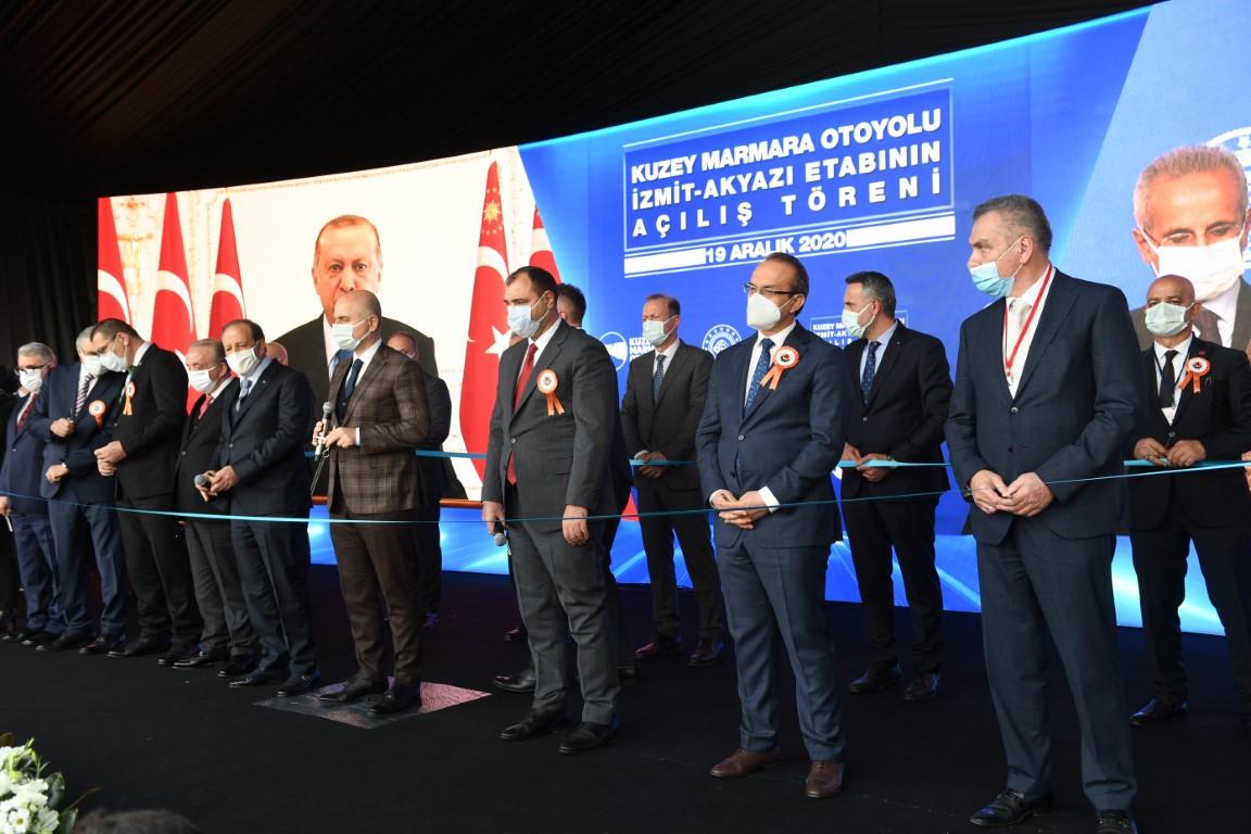 Kuzey Marmara Otoyolu'nun 6. Kesimi Törenle Açıldı