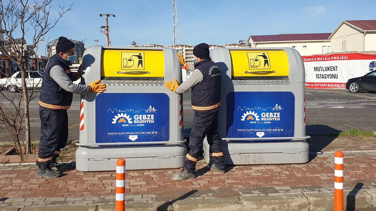 Gebze'de konteynırlar yenileniyor