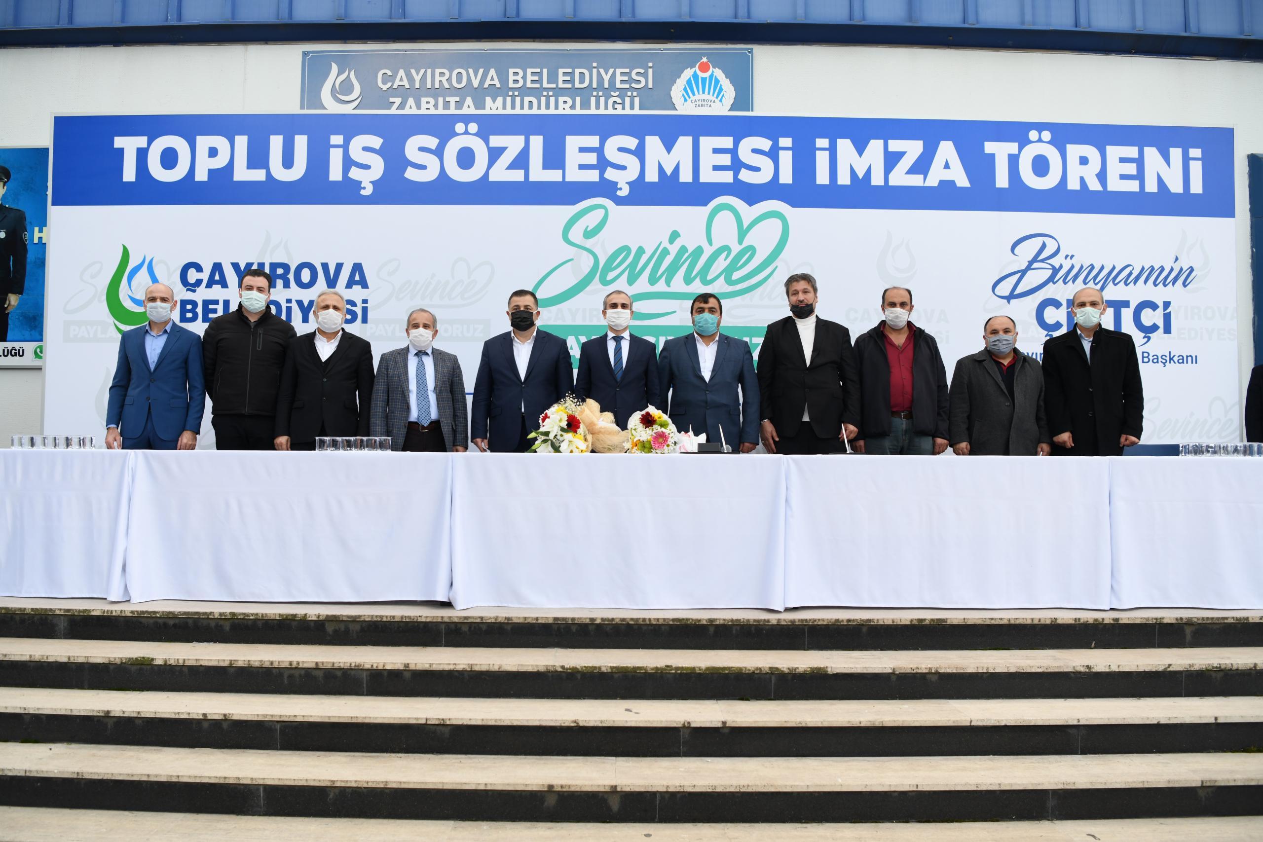 Çayırova'da Toplu Sözleşme İmzalandı