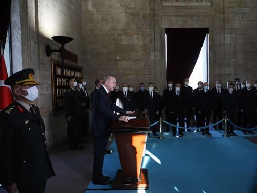 Ulu Önder Atatürk, 82. ölüm yıldönümünde Anıtkabir'de anıldı