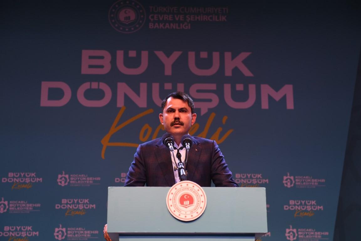 """Çevre Bakanı Kurum'dan önemli açıklamalar: """"Dilovası'ndaki sağlıksız bölgeleri Tavşancıl'a, Gebze'deki sağlıksız bölgeleri de TOKİ ve Emlak Konut'a taşıyacağız!"""