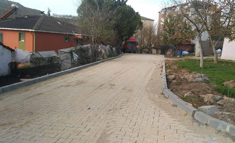 Pelitli köyüne parke döşeniyor