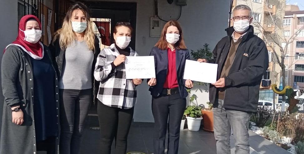 Gebze Sosyal Hizmetlerden Yenikent muhtarlığına teşekkür belgesi