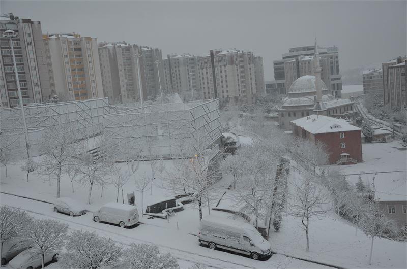 Gebze karlar altında…