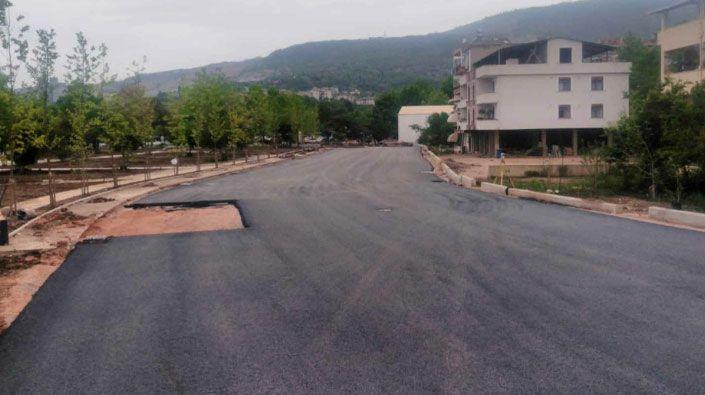 Hereke sahil yolu asfaltlandı