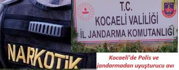 Kocaeli'de Polis ve Jandarma uyuşturucu operasyonları gerçekleştirdi