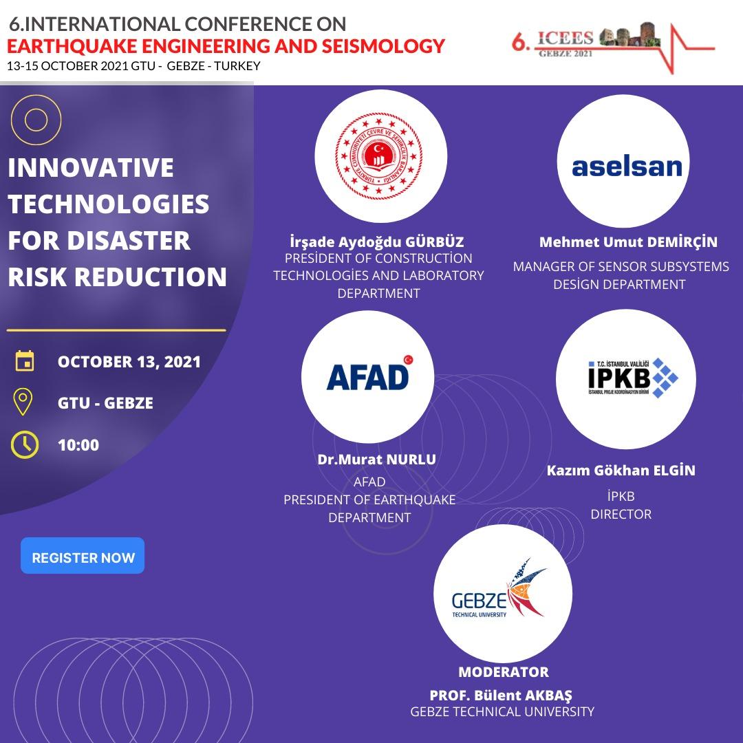 (6.ICEES) Uluslararası Deprem Mühendisliği ve Sismoloji Konferansı Gebze'de start alıyor